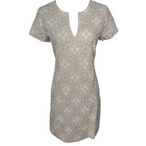 Vineyard Vines Linen Embroidered dress size 6